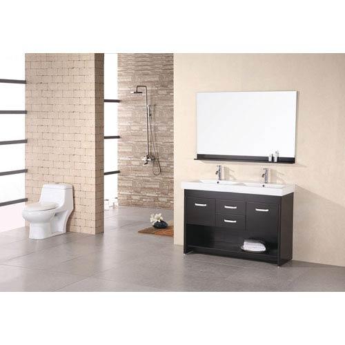 Design Element Citrus Dark Espresso 48 Inch Double Sink Vanity Set