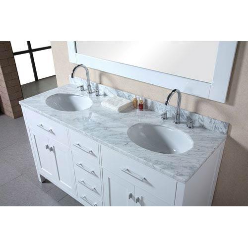 Design Element London 61 Inch Pearl White Double Sink Bathroom Vanity Set  2078DEC076A 2_1 ...