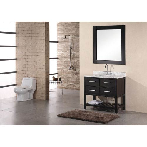 Design Element London Dark Espresso 36 Inch Single Bathroom Vanity