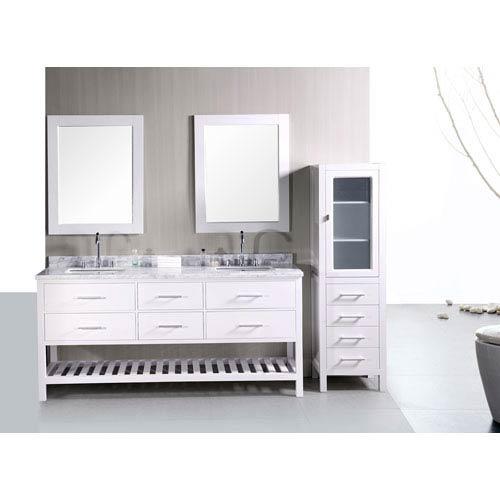 Design Element London 72 Inch Double Sink Bathroom Vanity Dec077b W