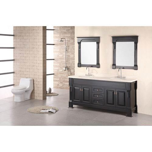 Design Element Andover Dark Espresso 72 Inch Double Sink Vanity Set