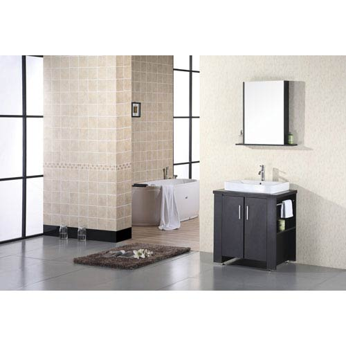Washington Dark Espresso 36 Inch Modern Bathroom Vanity