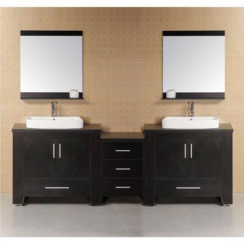 Design Element Washington Dark Espresso 36 Inch Modern Bathroom Vanity