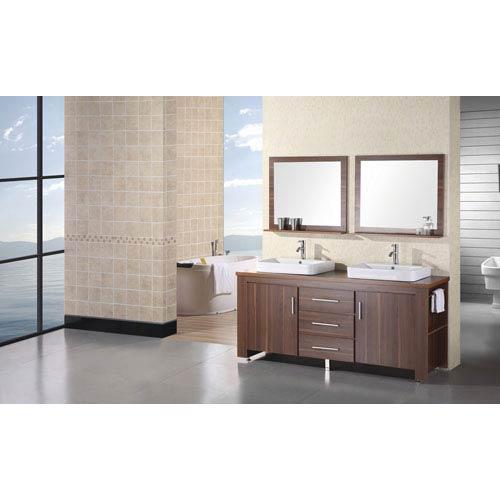 Design Element Washington Toffee Double Sink Vanity Set