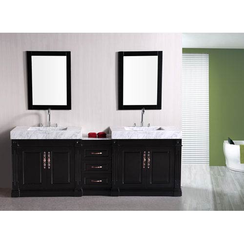 Odyssey Dark Espresso 90 Inch Double Sink Bathroom Vanity
