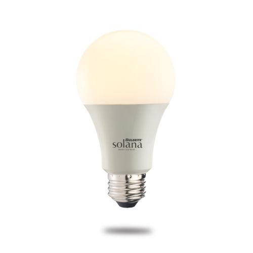 Solana A19 60W WiFi LED Smart Light Bulb, Frost Glass