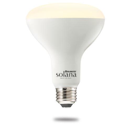 Solana BR30 65W WiFi LED Smart Light Bulb, Frost Glass