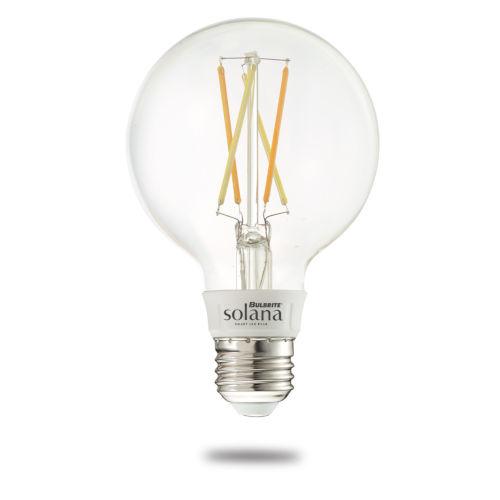 Solana G25 60W WiFi LED Smart Light Bulb, Transparent Glass