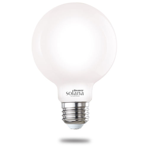 Milky Smart LED G25 60 Watt Equivalent Standard Base Tunable Color Temperature 500 Lumens Smart Home Light Bulb