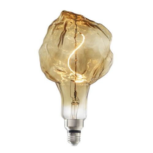Antique Nostalgic LED Filament Glacier Standard Base Amber 200 Lumens Light Bulb