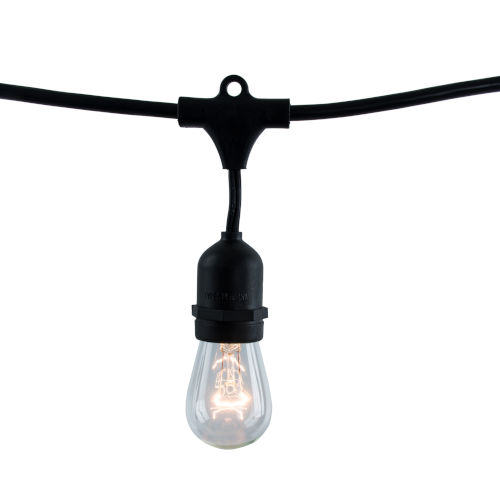 Black S14, E26 10-Light String Light