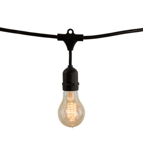 Black A19, E26 10-Light String Light