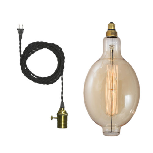 Antique BT56, E26 One-Light Wire Pendant Kit