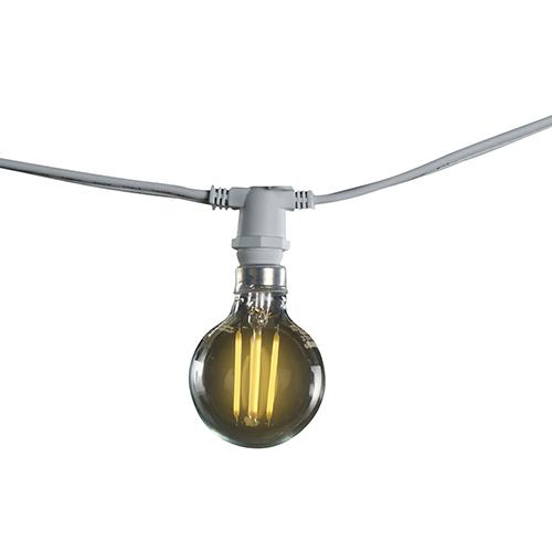 White 15-Light G16 LED String Light