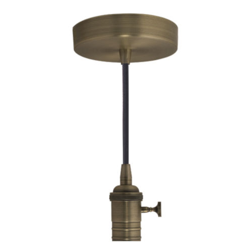 Warm Gold Standard Pendant Base with Black Cord