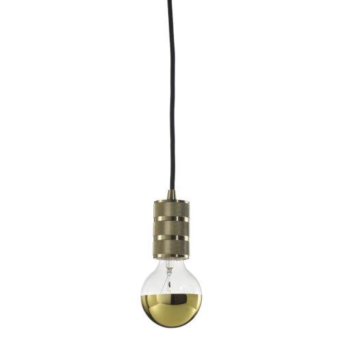 Warm Gold G25, E26 One-Light Wire Pendant Kit