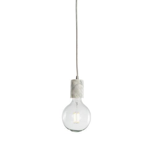White G40, E26 One-Light Wire Pendant Kit