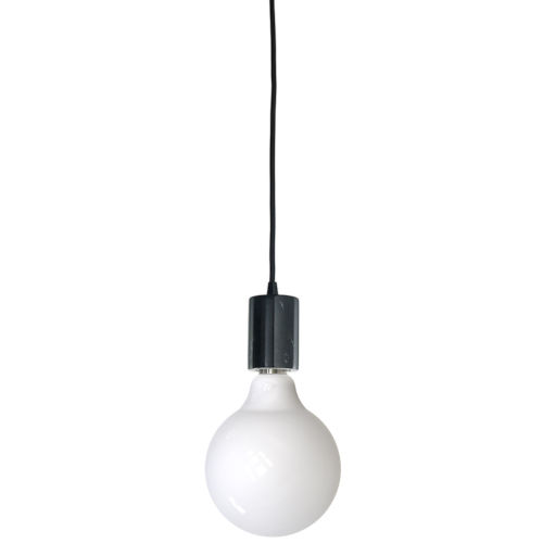 Black G40, E26 One-Light Wire Pendant Kit