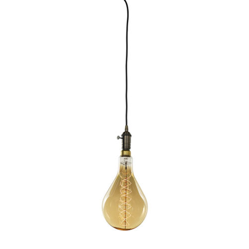 Warm Gold PS56, E26 One-Light Wire Pendant Kit