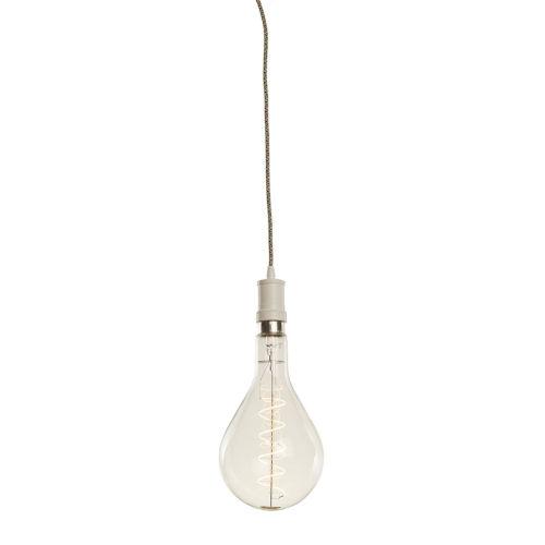 White PS52, E26 One-Light Wire Pendant Kit