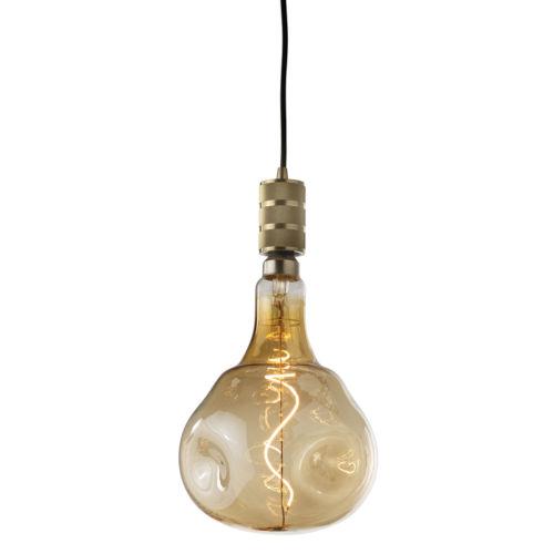 Antique Nostalgic Orb Standard Base Amber 180 Lumens Oversized Bulb Pendant