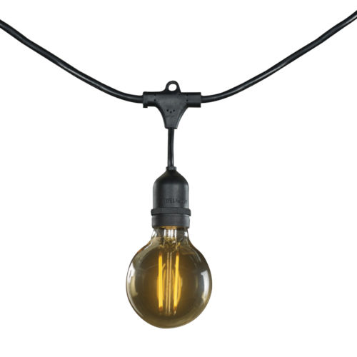 Black G25, E26 15-Light String Light