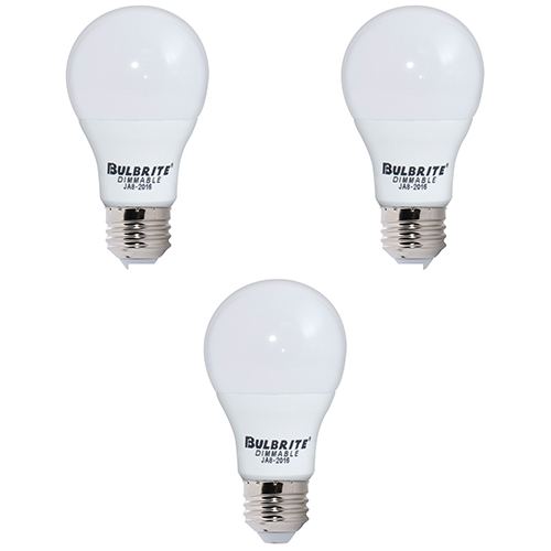 3PK 60W Equivalent A19 E26 2700K Dimmable LED Warm White Frost Light Bulb