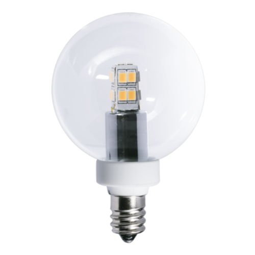 Clear G16, E12 2700K 2.5W LED Bulb, Pack of Two