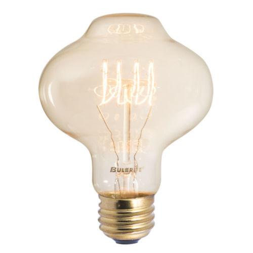 Antique Nostalgic Incandescent BT27 Standard Base Amber 130 Lumens Light Bulb