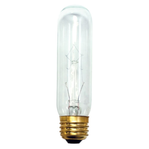 Clear T10, E26 2700K 60W Incandescent Bulb, Pack of 25