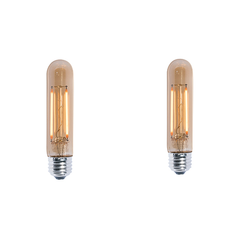 2PK 25W Equivalent T9 E26 2200K Dimmable LED Filament Vintage Amber Light Bulb