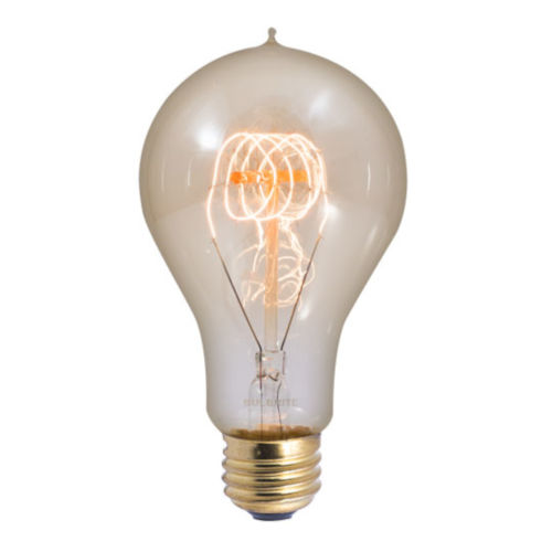 Antique A23, E26 2200K 40W Incandescent Bulb, Pack of Four