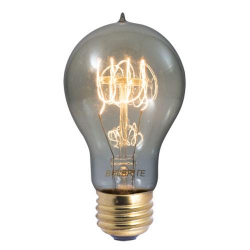 Smoke A19, E26 1800K 60W Incandescent Bulb, Pack of Four