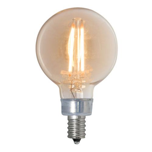 Antique G16, E12 2200K 2.5W LED Bulb, Pack of Three