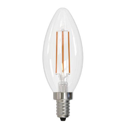 Clear B11, E12 3000K 4.5W LED Bulb, Pack of Four