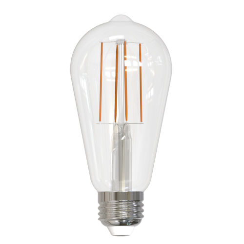 Clear ST18, E26 2700K 7W LED Bulb, Pack of Two