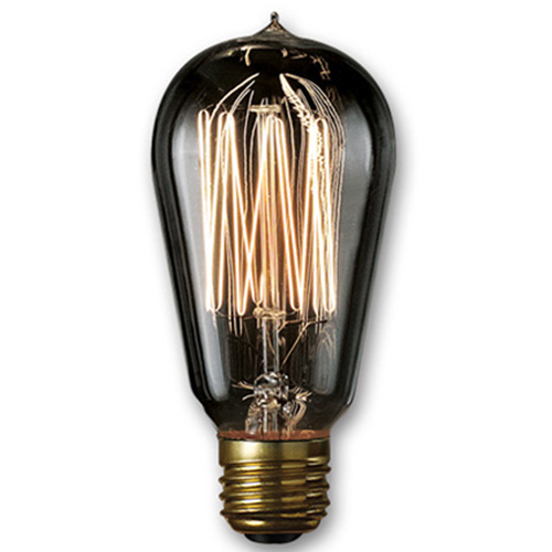 40W ST18 E26 Nostalgic Edison Thread Filament Smoke Bulb