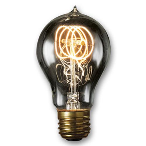 40W A19 E26 Nostalgic Edison Quad Loop Filament Smoke Bulb