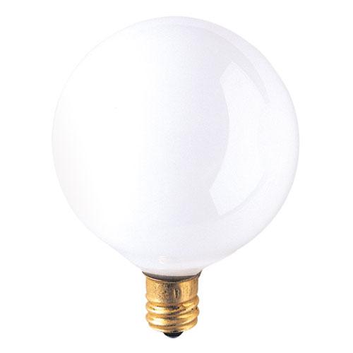 Bulbrite 25W G16.5 E12 White Bulb