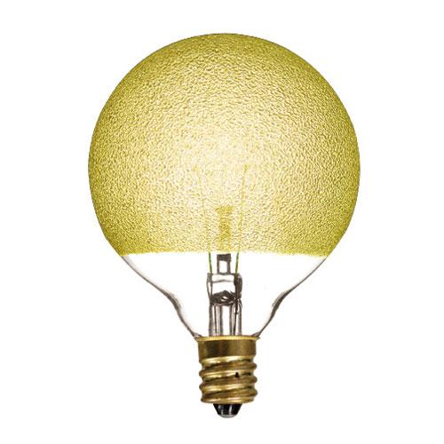 40W G25 E12 Amber Ice Bulb