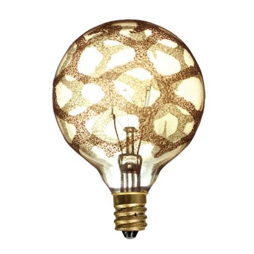40W G16 E12 Amber Marble Bulb