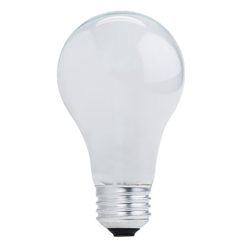 Bulbrite 53W A19 E26 Halogen Frost Bulb, Pack of 2