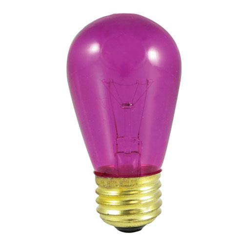 11W S14 E26 Incandescent Fuschia Bulb