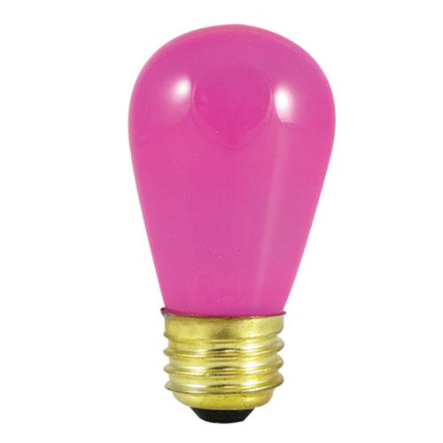 11W S14 E26 Incandescent Ceramic Pink Bulb