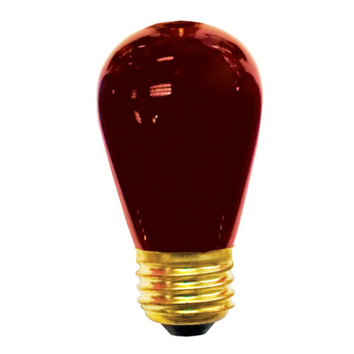 11W S14 E26 Incandescent Ceramic Red Bulb
