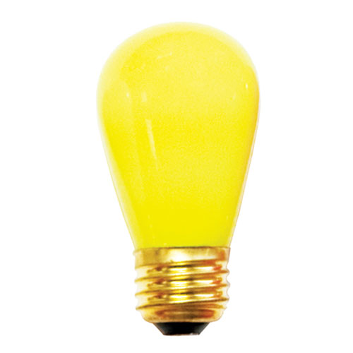 11W S14 E26 Incandescent Ceramic Yellow Bulb