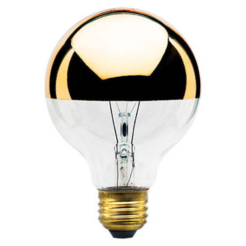 40W G25 E26 Half Gold and Clear Bulb