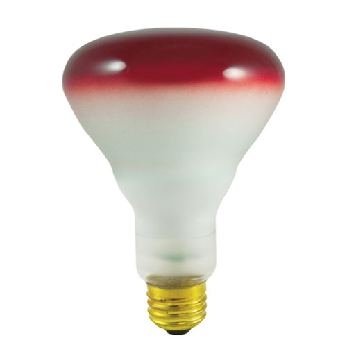 75W BR30 E26 Red Wide Flood Bulb