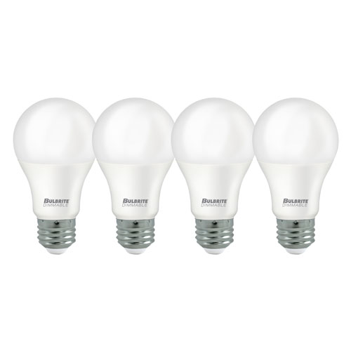9W A19 E26 Energy Star 5000K LED Frost Bulb Pack of Four