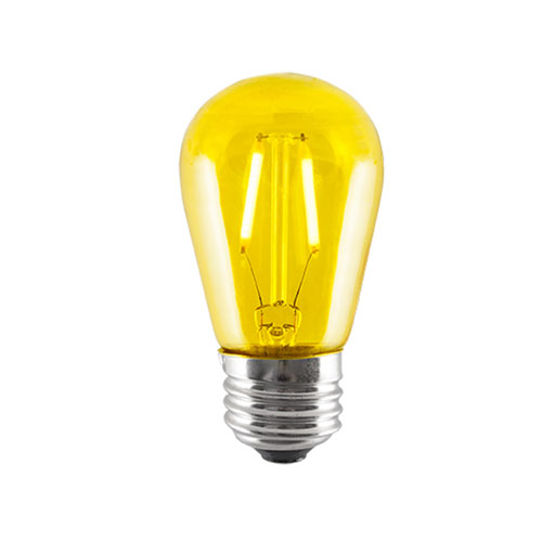 2W S14 E26 LED Yellow Bulb